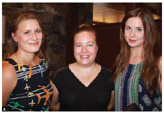 Finnish Ambassador Charles Murto, and his wife, Ritva, hosted a reception at their residence to say farewell. From left: Tuulikki Olander, incoming head of public diplomacy; Anni Ståhle, outgoing head of public diplomacy, and intern Janna Laitsaari. (Photo: Ülle Baum)