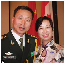 On the occasion of the 89th anniversary of the founding of The Chinese People's Liberation Army, Col. Haitaio Zhu and his wife, Yu Wang, hosted a reception at the Chinese Embassy.  (Photo: Ülle Baum)