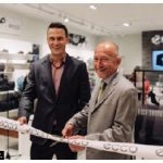 The new ECCO Shoes store at the Rideau Centre officially opened with a ribbon cutting by ECCO Shoes Canada president Jordan Searle, left, and Danish Ambassador Neils Boel Abrahamsen. (Photo: Byfield-Pitman Photography)