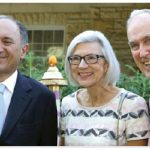 Italian Ambassador Gian Lorenzo Cornado (left) hosted a garden party at his residence in support of the Friends of the National Arts Centre Orchestra. He is pictured with Chief Justice Beverley McLachlin and her husband, Frank McArdle. (Photo: Lois Siegel)