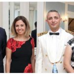 To mark Victory Day, Turkish Ambassador Selçuk Unal and his wife, Lerzan Kayihan Unal, and military attaché Col. Ersin Özkan and his wife, Funda Özkan, hosted a reception at the ambassador's residence. (Photo: Sam Garcia)
