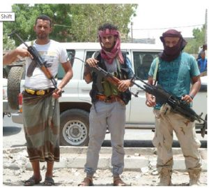 These pro-government militia fighters were in the port city of Aden in August 2015.