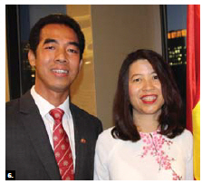 To mark the national day of Vietnam, Ambassador To Anh Dung and his wife, Tran Phi Nga, hosted a reception at the Westin Hotel. (Photo: Ülle Baum)