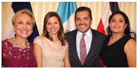 To mark the 195th anniversary of the independence of the Central American Countries, Guatemalan Ambassador Rita Claverie de Sciolli, Honduran Ambassador Sofia Lastenia Cerrato Rodriguez, Costa Rican Ambassador Roberto Dormond Cantu and Salvadoran chargé d'affaires Xochitl Guadalupe Zelaya hosted a reception at the Rideau Club. (Photo: Ülle Baum)