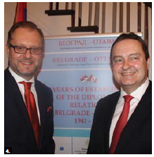 Serbian Ambassador Mihailo Papazoglu hosted a reception on the occasion of the visit of Serbian Deputy Prime Minister and Foreign Minister Ivica Dacic. The event also commemorated 75 years of diplomatic relations between Belgrade and Ottawa. (Photo by Ülle Baum)