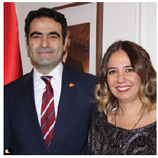 To mark the 93rd anniversary of the proclamation of Turkey, Ambassador Selçuk Ünal and his wife, Lerzan Kayihan Ünal, hosted a reception at their residence. (Photo: Ülle Baum)