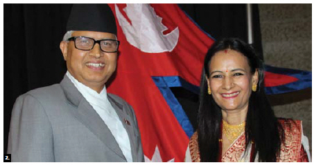 To mark Nepal's National Day, Ambassador Kali Prasad Pokhrel and his wife, Kamala, hosted a reception at Ottawa City Hall. (Photo by Ülle Baum)