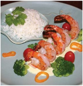 Margaret Dickenson's Madagascar Shrimp with Island-Spiced Sauce. (Photo: larry dickenson)