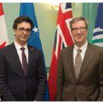 Mayor Jim Watson, right, received a visit from Kosovar Ambassador Lulzim Hiseni. (Photo: City of Ottawa)