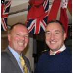 The British High Commission hosted a holiday drinks event. Colin Horton, left, trade officer in the defence and security sector, chatted with defence adviser Brig. Jonathan Calder-Smith. (Photo: Ülle Baum)