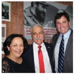Cuban Ambassador Julio Antonio Garmendía Peña, centre, and his wife, Miraly, hosted a national day reception. They were joined by Fisheries Minister Dominic LeBlanc. (Photo: Ülle Baum)