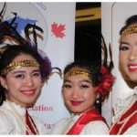 The Ottawa Diplomatic Ball, produced by the Ottawa Diplomatic Association, took place at the Hilton Lac-Leamy. It opened with a five-course meal and dancing. From left: Thai dancers Prim Natasha Isarabhakdi, daughter of the ambassador of Thailand; Nam Benjarat Apiwattananon; Dianna Khenmanisoth and Sasi Phaewtakhu. (Photo: Ülle Baum)