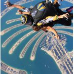 Skydive Dubai has two locations: The desert campus dropzone and the Palm dropzone; both in Dubai. Skydiving over these man-made palm-shaped islands is unparalleled. (Photo: skydive dubai)