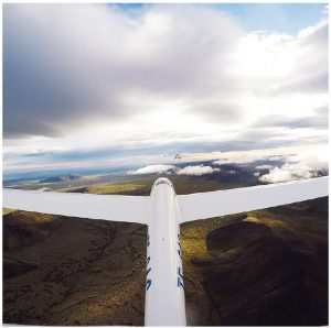 This glider, on one of Happyworld's tours (happyworld.is) is travelling over the lavafields and geothermal areas just outside Reykjavik. (Photo: www.happyworld.is )