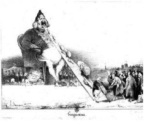 Honoré Daumier's cartoon of the French King as Gargantua. (Photo: Victor Laisné)