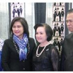 Thai Ambassador Vijavat Isarabhakdi, and his wife, Wannipa, hosted a New Year celebration at City Hall. From left, Indonesian Ambassador Teuku Faizasyah and his wife, Andis. (Photo: Sam Garcia)