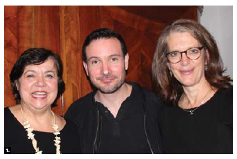 German Ambassador Werner Wnendt and his wife, Eleonore, hosted a reception at their home in honor of a performance at the National Arts Centre by Gauthier Dance and Theaterhous Stuttgart. From left: Eleonore Wnendt, dancer Eric Gauthier and Cathy Levy, NAC Dance program director. (Photo: Ülle Baum)