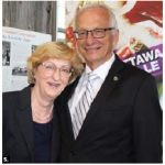 Croatian Ambassador Marica Matkovic and MP Bob Bratina, attended Croatia Day at Lansdowne Park.