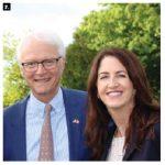 Ambassador Per Sjögren and Marsha Smith, president of IKEA Canada, attended a summer buffet to mark Sweden Day.