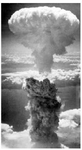 The Japanese attack on Pearl Harbor prompted the U.S. bombing of Nagasaki, an  historical example of nuclear attack. (Photo: Charles Levy from one of the B-29 Superfortresses used in the attack.)