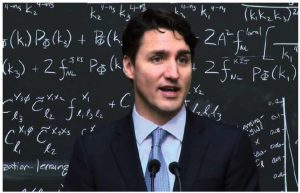 Prime Minister Justin Trudeau stunned observers when he answered a question about quantum computing at a visit to the Perimeter Institute – Canada's premier theoretical physics establishment. (Photo: YOUTUBE)