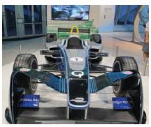 "France's Renault makes ""Formula e"" racing cars. (Photo: Jennifer Campbell)"