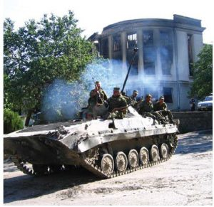 A Russian BMP-2 in South Ossetia during the 2008 South Ossetia War between Georgia and Russia. (Photo: Yana Amelina)