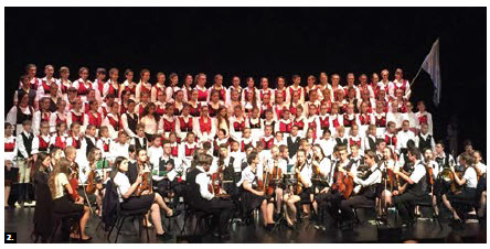 To celebrate Canada's 150th anniversary, Ambassador Ódor also hosted a concert by the Szentegyháza Children's Philharmonia at Centrepointe Theatre. (Photo: Ülle Baum)