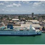 The Africa Mercy, a floating hospital, is docked in the coastal city of Douala, Cameroon, until June. (Photo: Mercy ships)
