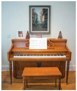 When they leave Canada, the ambassadorial couple will take a 28-year-old Mediterranean-style piano they bought on Kijiji for their daughter. (Photo: Ashley Fraser)