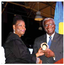 To celebrate Canada's 150th anniversary and in honour of the visit of Barbadian Prime Minister Freundel Stuart, High Commissioner Yvonne V. Walkes hosted a reception at Lansdowne Park's Horticulture Building. (Photo: Ülle Baum)