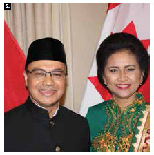Indonesian Ambassador Teuku Faizasyah and his wife, Andis Erawan Faizasyah, hosted a reception at the Fairmont Château Laurier in honour of Indonesia's 72 years of independence. (Photo: Ülle Baum)