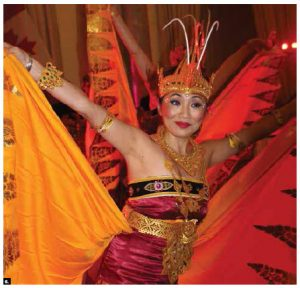This dancer took part in a cultural performance to celebrate Indonesia's independence day. (Photo: Ülle Baum)