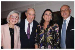 Italian Ambassador Claudio Taffuri hosted a dinner at his home to celebrate the International Week of Italian Cuisine. From left: Beverley McLachlin, her husband, Frank McArdle, Maria Enrica Francesca Stajano and Taffuri.  (Photo: Ülle Baum)