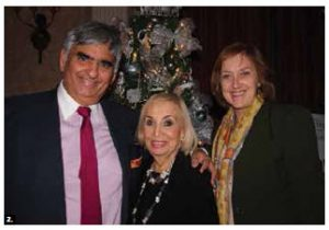 The Fairmont Château Laurier hosted a 20th anniversary Trees of Hope for CHEO event and silent auction. From left: Bill Malhotra, CEO of Claridge Homes; Cindy Sezlik, of Royal LePage Realty (Sezlik.com); and Wendy Sewell, assistant defence attaché at the embassy of Netherlands. Sezlik's Christmas tree was deemed the most beautifully decorated. (Photo: Ülle Baum)