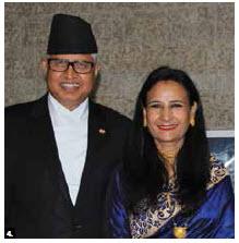 Nepalese Ambassador Kali Prasad Pokhrel and his wife, Kamal, hosted a national day reception at Ottawa City Hall. (Photo: Ülle Baum)