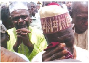 Parents of some of the victims of the 2014 Chibok kidnapping mourn their girls' disappearances. (Photo: Voice of America)