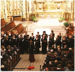 The delegation of the European Union and the diplomatic missions of the EU members presented the 10th Anniversary Christmas concert at Notre-Dame Cathedral Basilica. It featured the Hypatia's Voice Women's Choir conducted by Laura Hawley. (Photo: Ülle Baum)