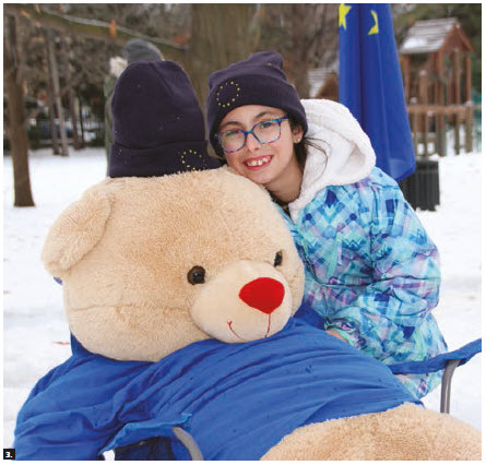 A total of 15 embassies participated in the Winter Celebration at Rideau Hall hosted by Gov. Gen. Julie Payette. Michelle Jiménez-Bucur, a student at St. Francis of Assisi School in Orléans, volunteered at the European Union's stand. (Photo: Ülle Baum)