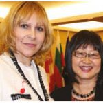 Bulgaria's national day celebration took place on Parliament Hill and also marked the Bulgarian presidency of the council of the EU. From left: Svetlana Stoycheva-Etropolski, chargé d'affaires of Bulgaria, and Senator Yonah Martin, co-chair of the Canada-Bulgaria Parliamentary Friendship Group. (Photo: Ülle Baum)