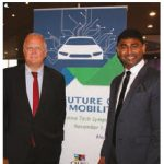"Peter Fahrenholtz, consul general for the German consulate in Toronto, participated in the first ""Future of Mobility"" Automotive Tech Symposium at Toronto's Westin Harbour Castle. From left: Fahrenholtz and Dunstan Peter, president and CEO of Trinity Tech. Inc. ( Photo: Ülle Baum )"