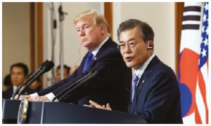 U.S. President Donald Trump and South Korean President Moon Jae-in have had good success in getting North Korea to the table. (Photo: Republic of Korea)