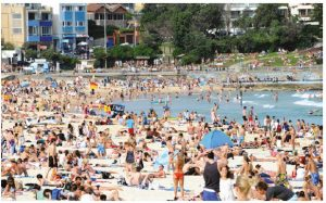 Bondi Beach, seven kilometres from downtown Sydney, Australia, has attracted visitors since the mid-19th Century. The first tramway reached the area in 1884 and today, the beach draws 2.5 million people a year. (Photo: © Phillip Gray | Dreamstime.com)