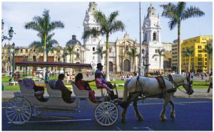 Lima, Peru, whose Plaza des Armas, shown here, is the birthplace of the city, has four popular beaches, a vibrant culinary scene and many cultural gems. (Photo: Art DiNo)