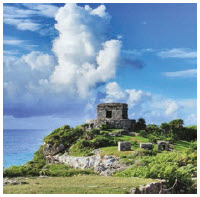 Tulum Beach's Temple of the Wind God graces its shores. (Photo: Popo le chien)