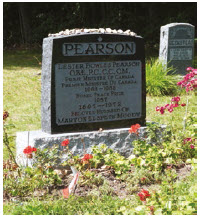 Former Canadian prime minister Lester B. Pearson is buried at MacLaren Cemetery in Wakefield.  (Photo: MacLaren cemetery)