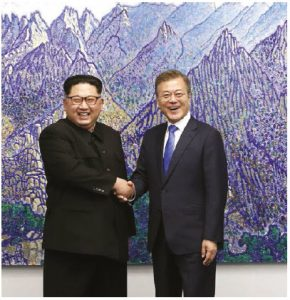 As North Korean President Kim Jong-un, left, and South Korean President Moon Jae-in attempt to settle their differences, one can learn about Kim's repressive regime in Paul French's new book, North Korea, State of Paranoia. (Photo: Cheongwadae, Blue House)