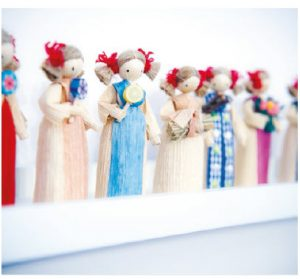 The dining room is home to Daniela's collection of tiny, traditional cornhusk dolls. (Photo: Ashley Fraser)