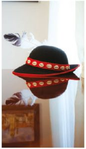 A traditional Slovak hat sits on a table in the residence. (Photo: Ashley Fraser)