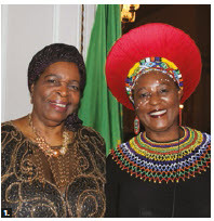Africa Day took place at the Château Laurier hotel. From left: Zimbabwean Ambassador Florence Chideya and South African High Commissioner Sibongiseni Dlamini-Mntambo. (Photo: Ülle Baum)